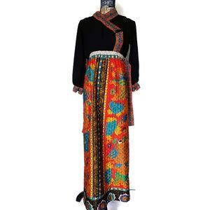 Dresses & Skirts - Vintage Asian Inspired Full Length Prom Dress